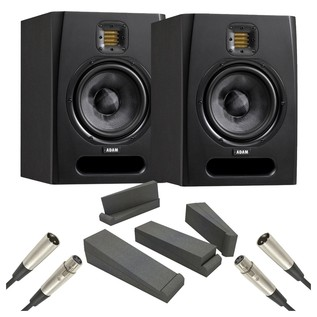 Adam F5 Studio Monitors with Isolation Pads and Cables, Pair - Bundle