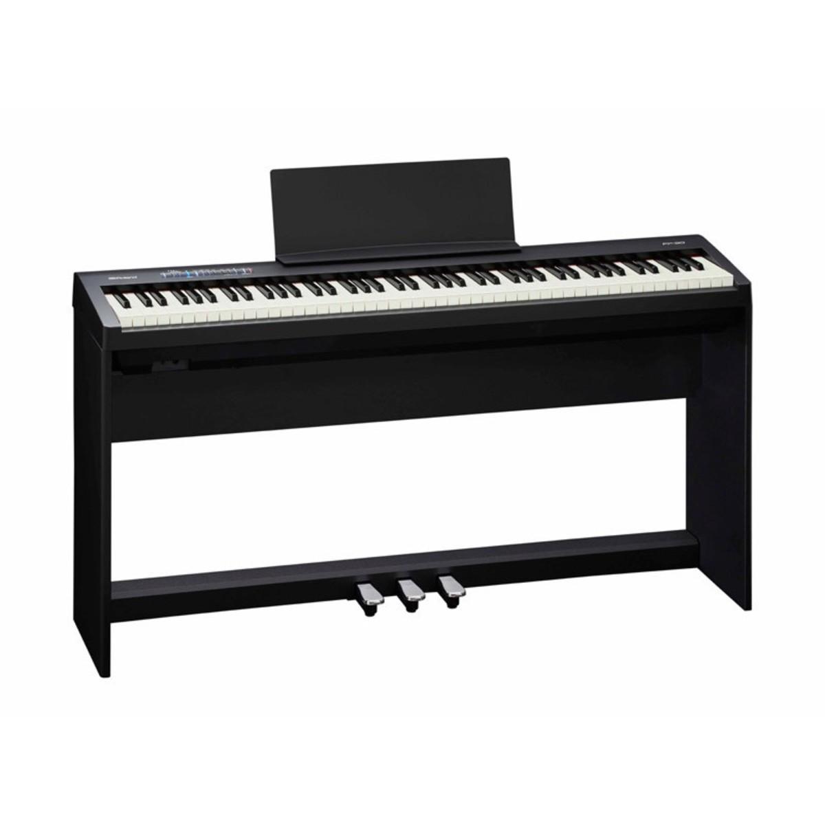 roland fp 30 piano num rique avec stand et p dales noir. Black Bedroom Furniture Sets. Home Design Ideas
