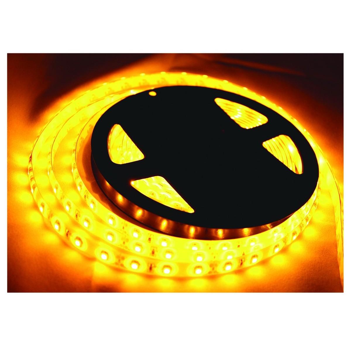 LR Technology LED Tape Light Kit 5M, Yellow at Gear4music