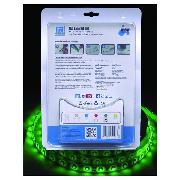 Green 5 Metre LED Tape Kit
