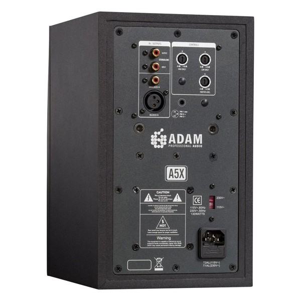 Adam A5X Studio Monitors - Rear