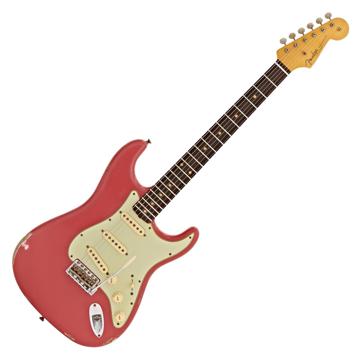 fender custom shop 1961 relic stratocaster fiesta red cz528000 at gear4music