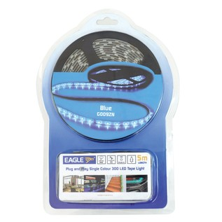 Eagle IP65 LED Tape Light Kit 5m With In-Line Power Supply, Blue