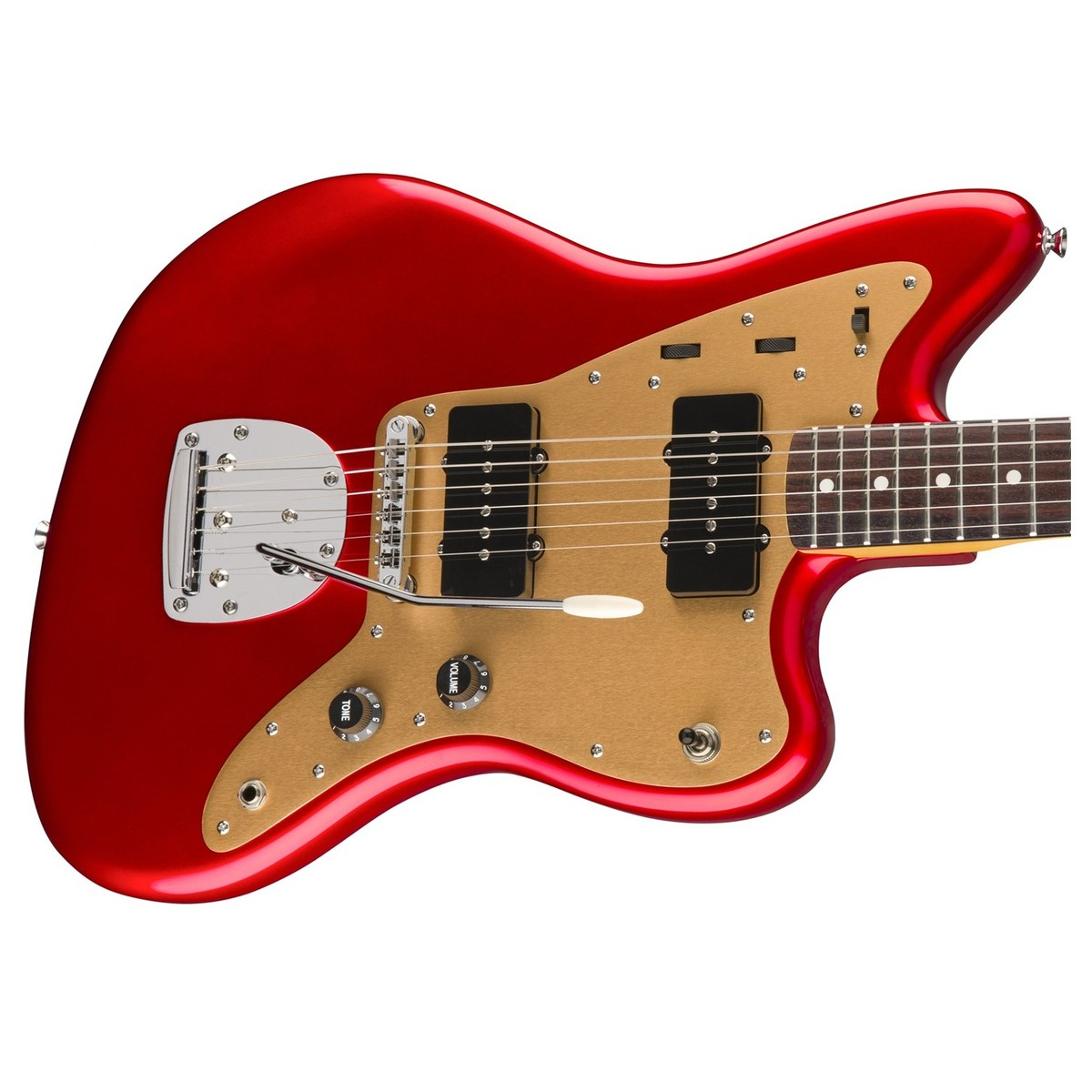 Squier Deluxe Jazzmaster With Tremolo Candy Apple Red At Gear4music Circuit Bend Anything Fx Kit Add Bent Theremin Effects To Guitar Bass Loading Zoom