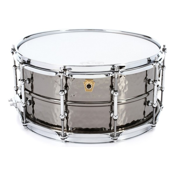 """Ludwig LB417KT 14"""" x 6.5"""" Hammered Black Beauty Snare Drum, Tube Lugs"""