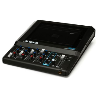 Alesis iO Mix 4-Channel Mixer/Recorder for iPad - Angled
