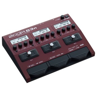 Zoom B3n Effects and Amp Simulator Pedal - Angled