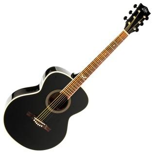 Eko NXT 018 Acoustic Guitar, Black Front