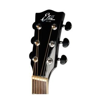 Eko NXT D Acoustic Guitar, Black HEADSTOCK