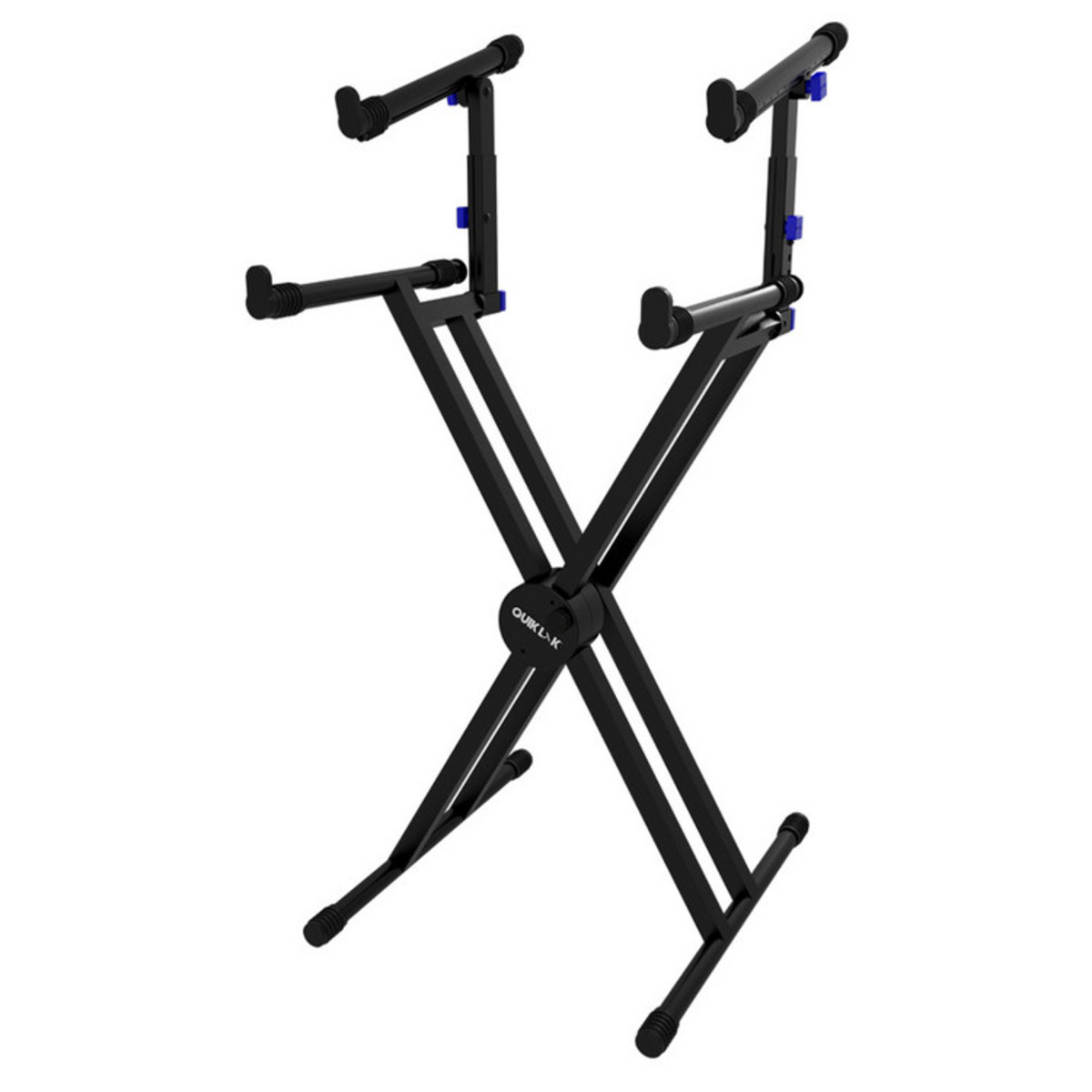 quiklok ql742 heavy duty double braced two tier keyboard stand black b stock at gear4music. Black Bedroom Furniture Sets. Home Design Ideas