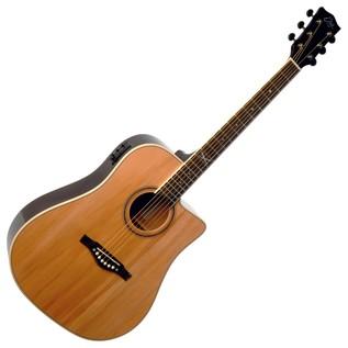 Eko NXT D CW EQ Electro Acoustic Guitar, Natural Front