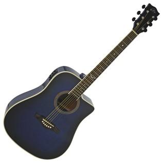 Eko NXT D CW EQ Electro Acoustic Guitar, Blue SB