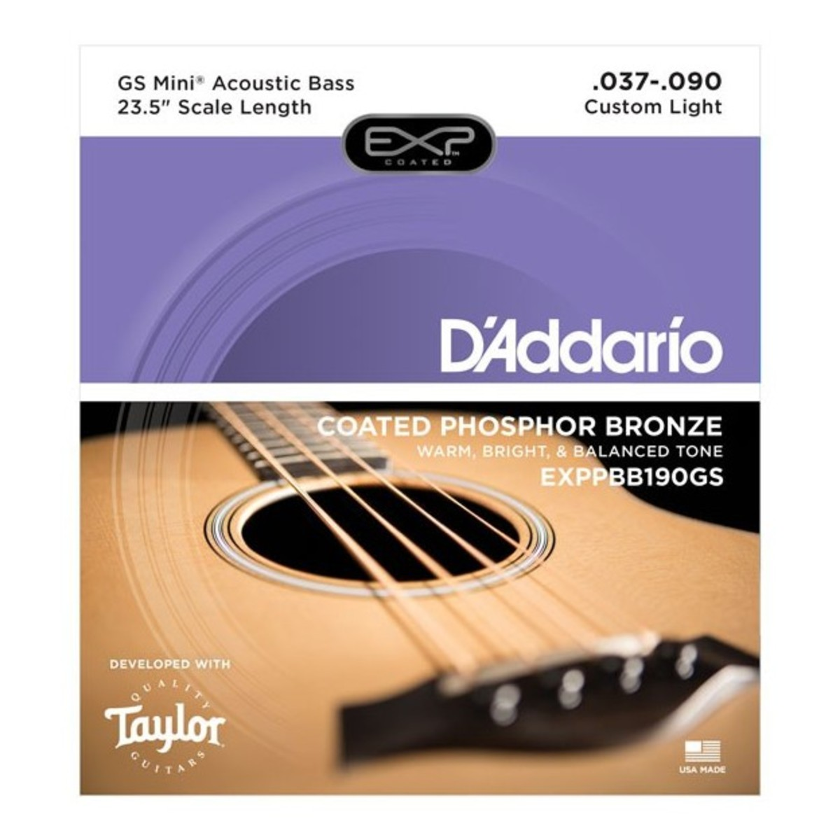 Daddario Exp Coated Phosphor Bronze Taylor Gs Mini Ac Bass Strings Guitar Wiring Diagram 1 Loading Zoom