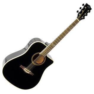 Eko NXT D CW EQ Electro Acoustic Guitar, Black