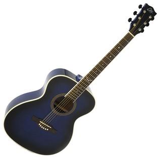 Eko NXT 018 Acoustic Guitar, Blue SB Front
