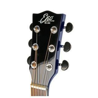 Eko NXT 018 Acoustic Guitar, Blue SB Headstock