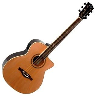 Eko NXT 018 CW EQ Electro Acoustic Guitar, Natural Front