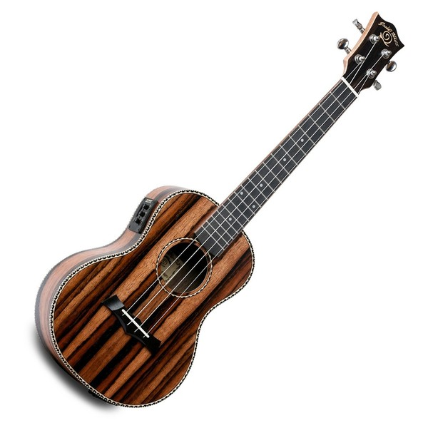 Snail UKT-E598EQ Tenor Ebony Electro Acoustic Ukulele 1