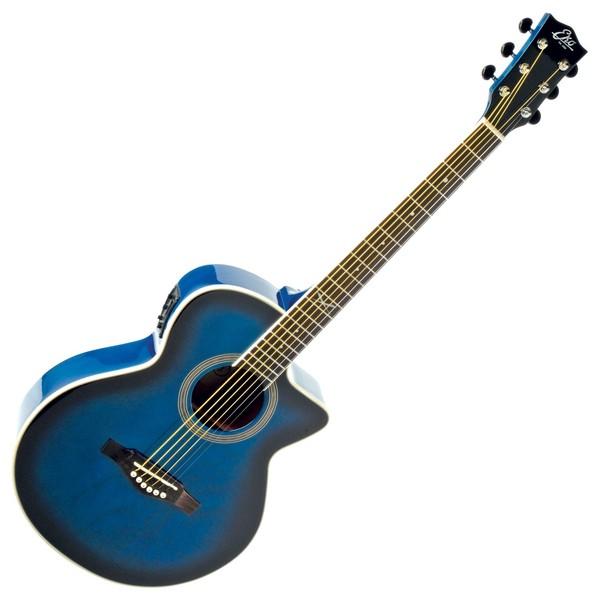 Eko NXT 018 CW EQ Electro Acoustic Guitar, Blue SB Front