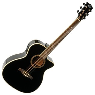 Eko NXT 018 CW EQ Electro Acoustic Guitar, Black Front