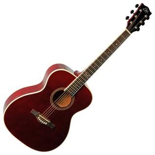 Eko NXT 018 Acoustic Guitar, Wine Red Front