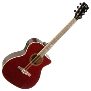 Eko NXT 018 CW EQ Electro Acoustic Guitar, Wine Red Front