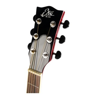 Eko NXT 018 CW EQ Electro Acoustic Guitar, Wine Red  Headstock