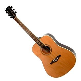 Eko NXT D Acoustic Guitar, Natural LH Front