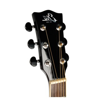 Eko NXT D Acoustic Guitar, Natural LH headstock