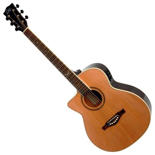 Eko NXT 018 CW EQ Electro Acoustic Guitar, Natural LH Front