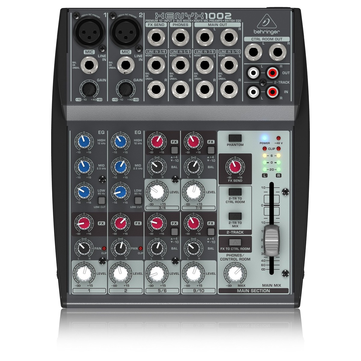 Behringer XENYX 1002 Analog Mixer. Loading zoom