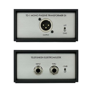 Telefunken TDP-1 Passive Direct Inject Box - Front & Back