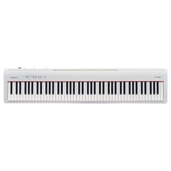Roland FP-30 Digital Piano with Stand, Stool and Headphones, White