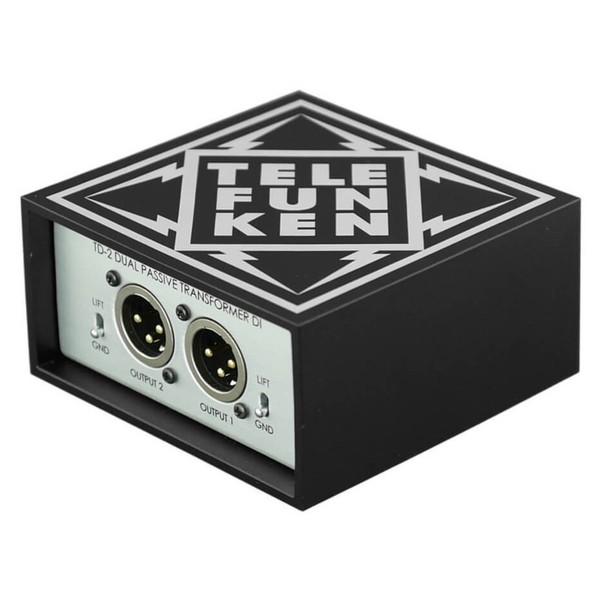 Telefunken TD-2 Passive Stereo DI Box - Angled