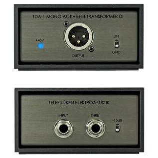 Telefunken TDA-1 Active Direct Input Box - Front & Back