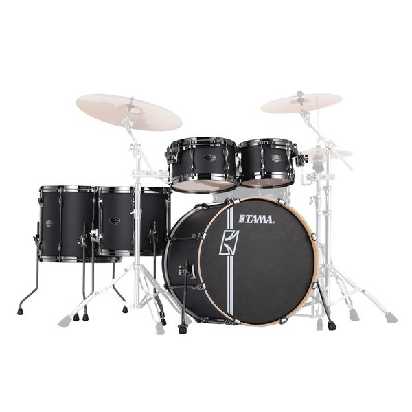 "Tama Superstar Hyper-Drive 22"" 5pc Shell Pack, Flat Black"
