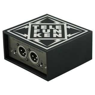 Telefunken TDA-2 Active Stereo Direct Input Box - Angled