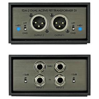 Telefunken TDA-2 Active Stereo DI Box - Front & Back