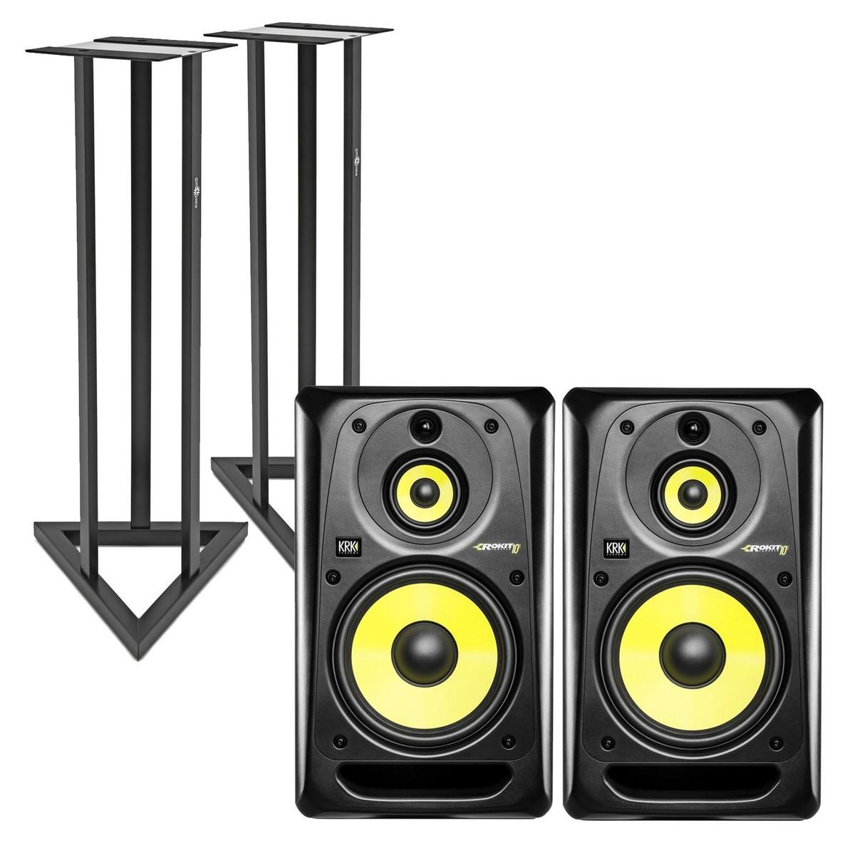 krk rokit rp10 3 g3 full range active studio monitor pair free stands at. Black Bedroom Furniture Sets. Home Design Ideas