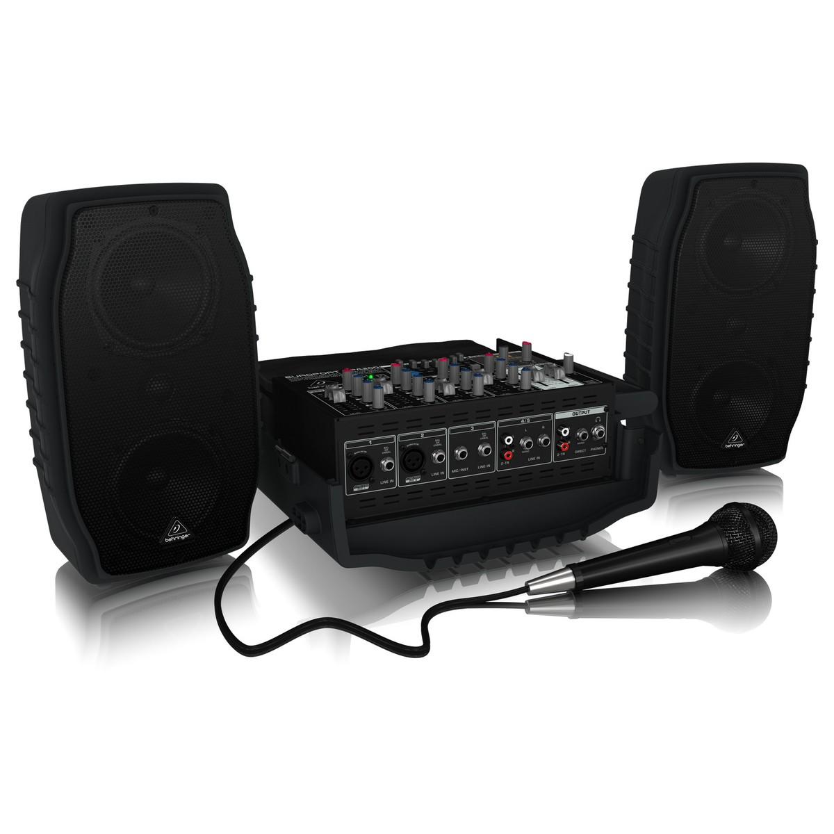 behringer europort ppa200 5 channel portable pa system at gear4music. Black Bedroom Furniture Sets. Home Design Ideas