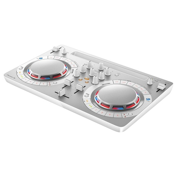 Pioneer DDJ-WeGO4 DJ Controller, White - Angled