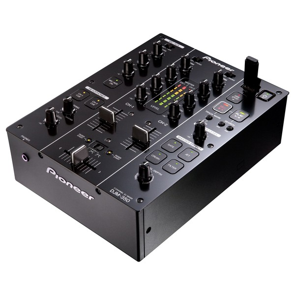 Pioneer DJM-350 2-Channel Mixer - Angled