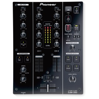 Pioneer DJM-350 2-Channel DJ Mixer - Top