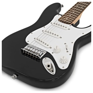 Squier By Fender Mini Stratocaster 3/4 Size Electric Guitar, Black
