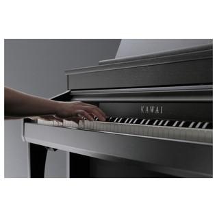Kawai Concert Artist CA97 Digital Piano, Black Side View