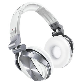 Pioneer HDJ 1500 Professional DJ Headphones, White - Angled