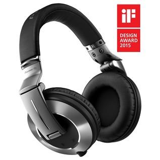 Pioneer HDJ-2000MK2 High-End Professional DJ Headphones, Sliver - Angled