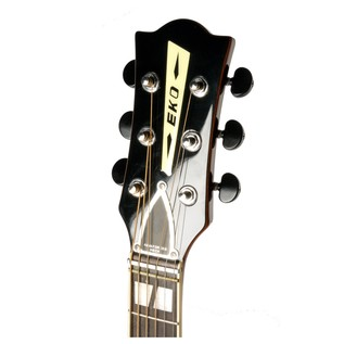 Eko Ranger VI VR Acoustic Guitar, Honey Burst Headstock