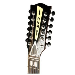 Eko Ranger XII VR Acoustic Guitar, Honey Burst Headstock