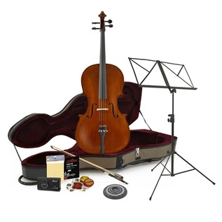 Archer 4/4 Cello, Case and Accessory Pack by Gear4music